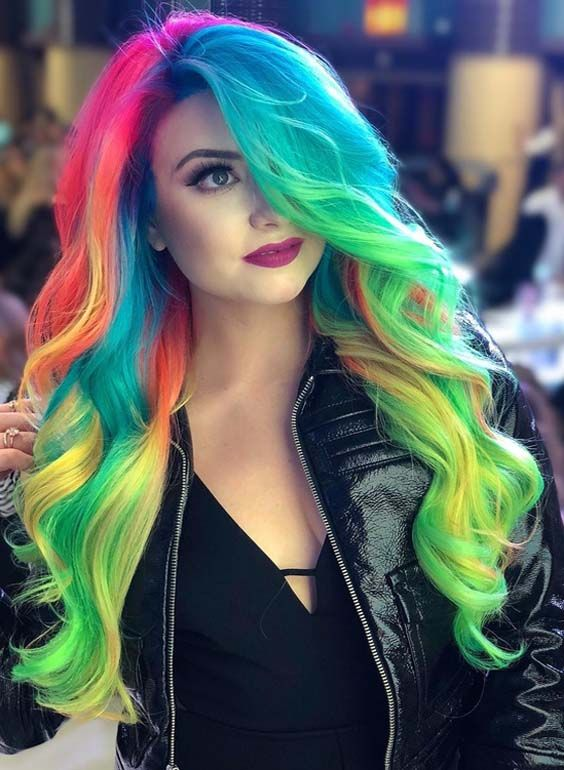 Check out our variety of rainbow hair colors 2018 to see if one suits you. Hear from the pros on how to style, what to tell your stylist right now. These are one of the best ideas of hair colors in 2018. See here and choose the shades of rainbow hair colors for 2018.