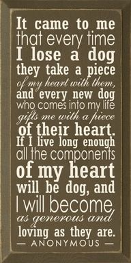 For the dog lover...  Tears in my eyes.