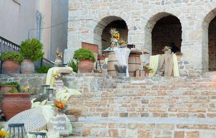Γάμος country style με υλικά Newman | bombonieres.com.gr