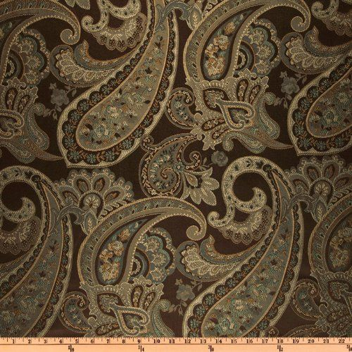 798 200 Shipping Eroica Candytuft Paisley Jacquard Cocoa Fabric
