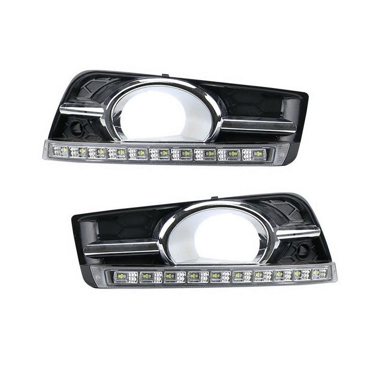 109.99$  Watch more here - http://aiuv8.worlditems.win/all/product.php?id=651538608 - July King 1pair LED Daytime Running Lights DRL with Fog Lamp Cover case for Chevrolet Cruze 1:1, with Yellow Turn Signals