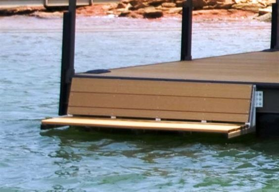 swim bench, dock bench, lake hartwell, lake keowee, lake jocassee: