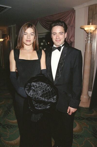♡♡ Robert Downey Jr. and his first wife, singer-actress Deborah Falconer.