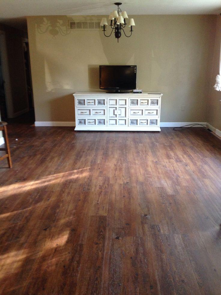 Allure traffic master Vinyl plank flooring  Family room