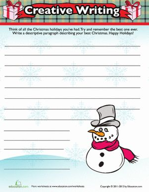 best christmas writing prompts ideas ideas for christmas the holiday season fourth grade composition worksheets christmas writing activity