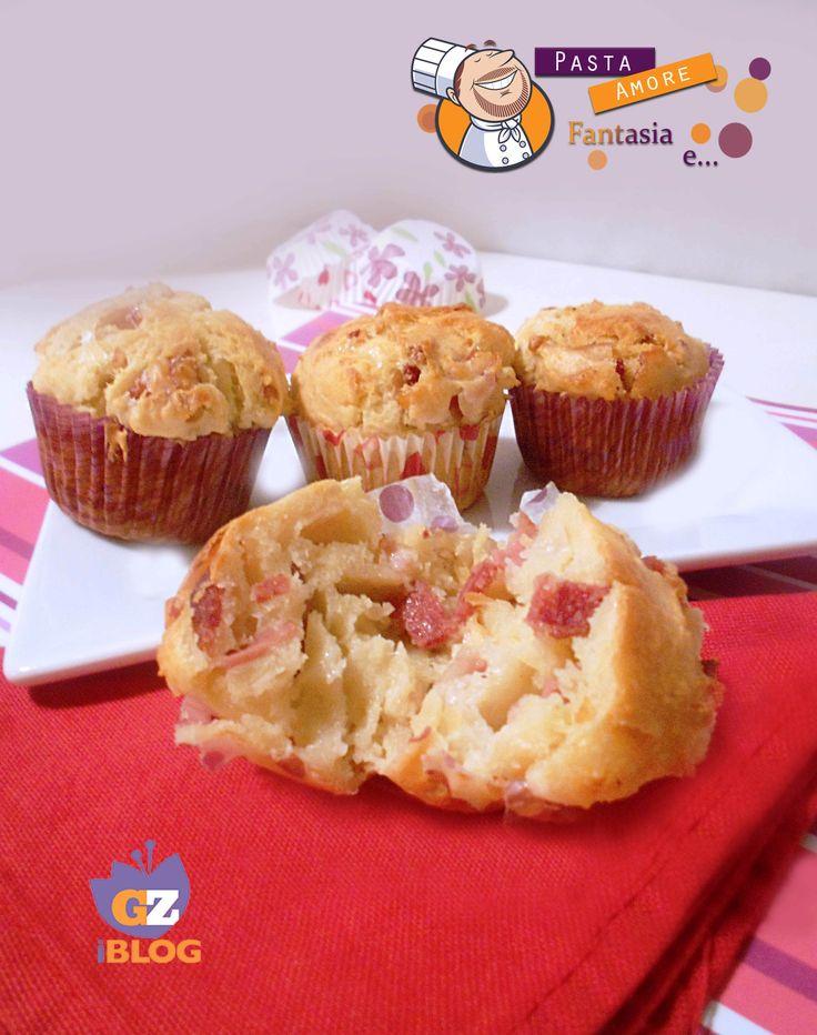 Muffins Salati con Salame e Mortadella