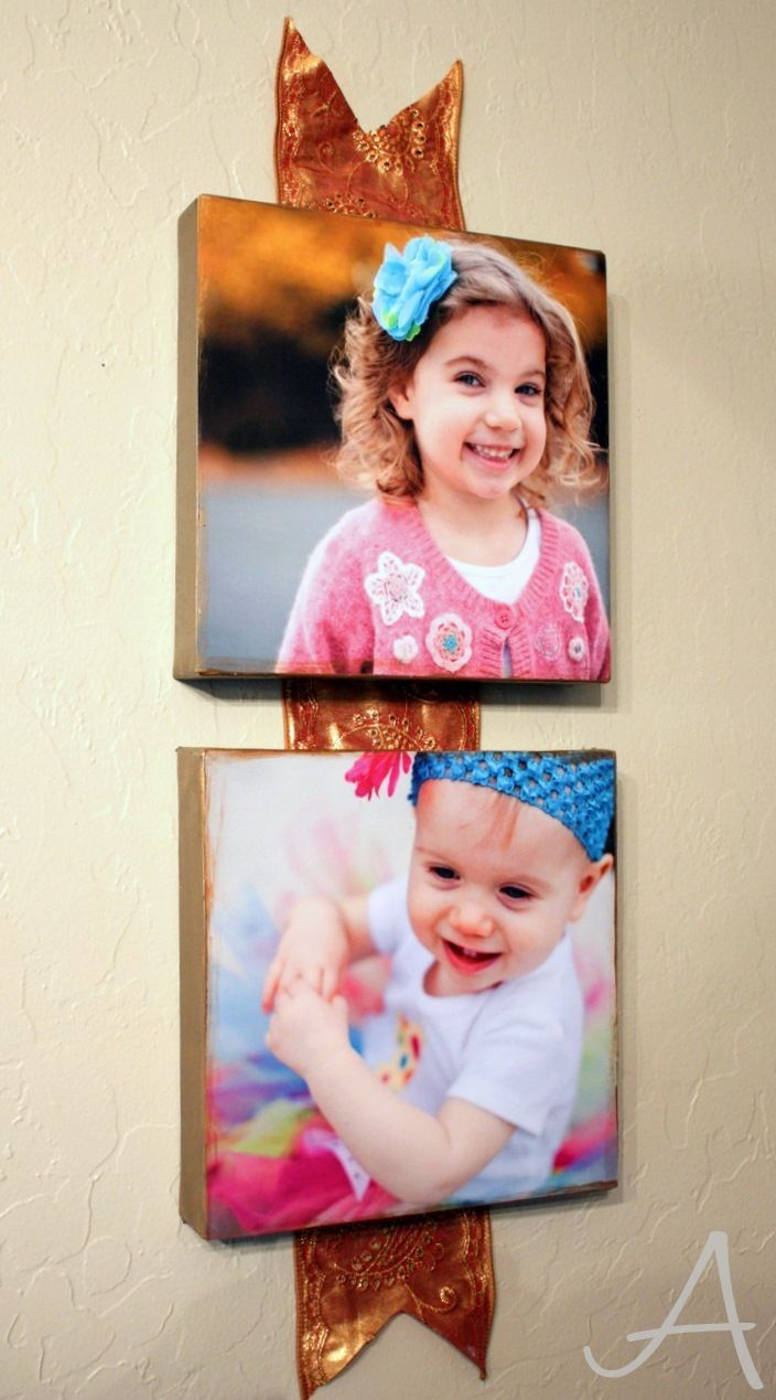 DIY Gift Idea: Photo Canvases - Ask Anna