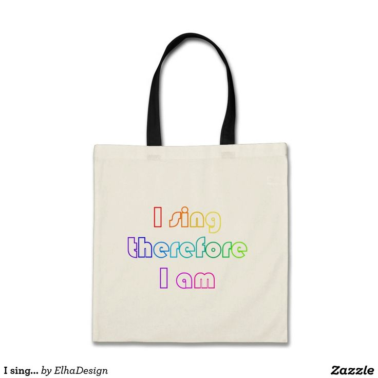 I sing therefore I am -tote bag