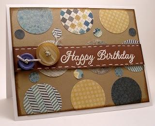 KittyKatKards: Circle-Filled Masculine Birthday Card