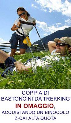 Bastoncini da trekking in omaggio con l'acquisto di un binocolo ZIel Z-CAI ALTA QUOTA  www.fotomatica.it | info@fotomatica.it