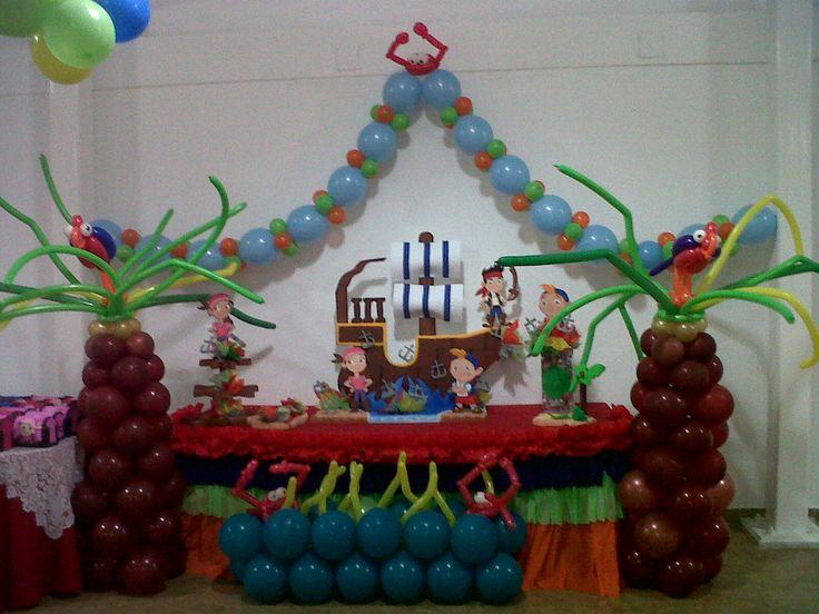 Decoraci n de jack el pirata decoraciones con globos - Decoracion de globos ...