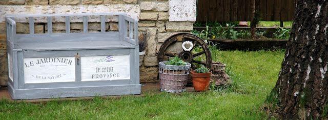Csipkezsiráf: Az ajándék kerti pad . . .Farmhouse Decor, Shabby Chic Decor,
