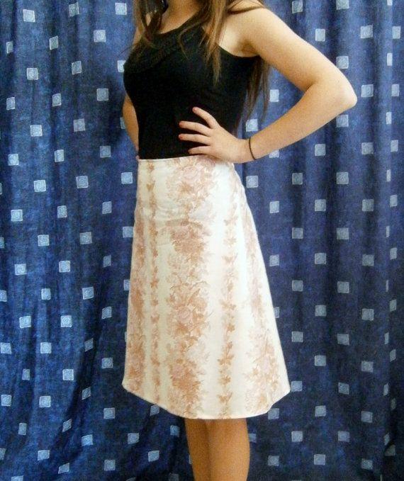 Vintage Fabric Fifties Inspired Half Circle Skirt AU sizes 10-12-14