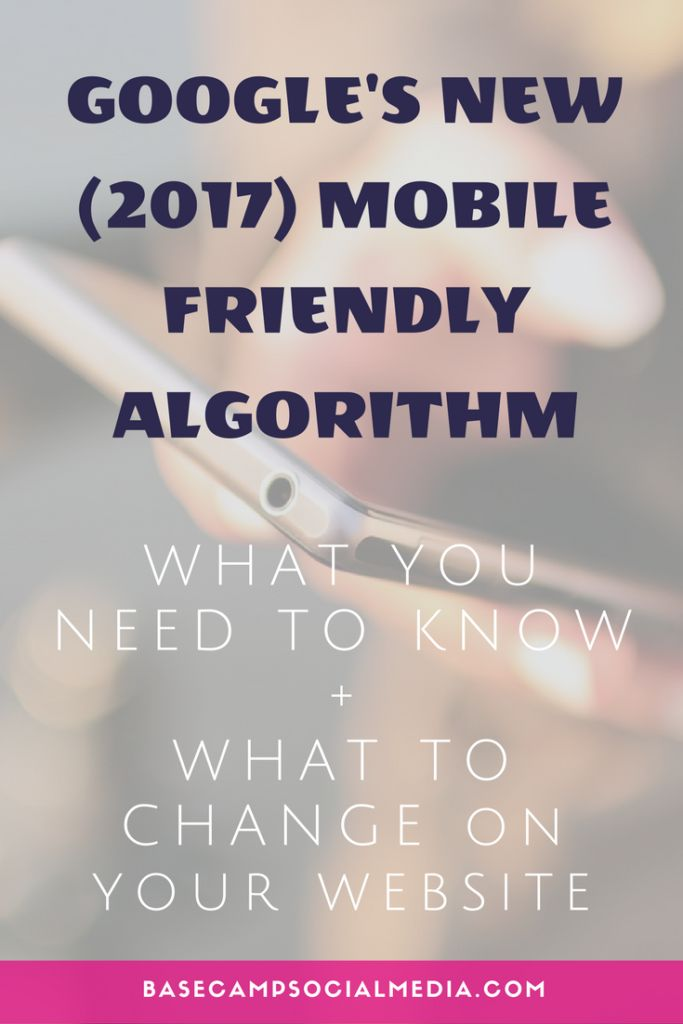 Google's new mobile friendly algorithm - How it affects your website and what to change right now.