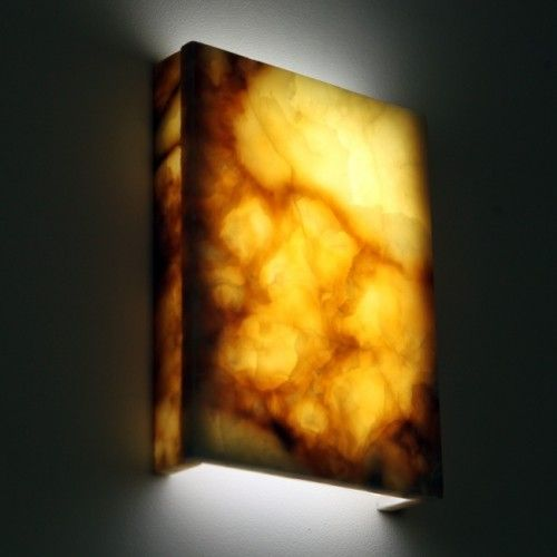Lighting Behind Onyx Marbles : Hand crafted natural marble wall lights magma onyx
