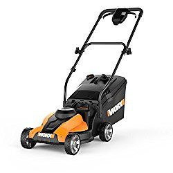 WORX 14-Inch 24-Volt Cordless Lawn Mower with Easy-Start Feature, Removable Battery, and Grass Collection Bag – WG775