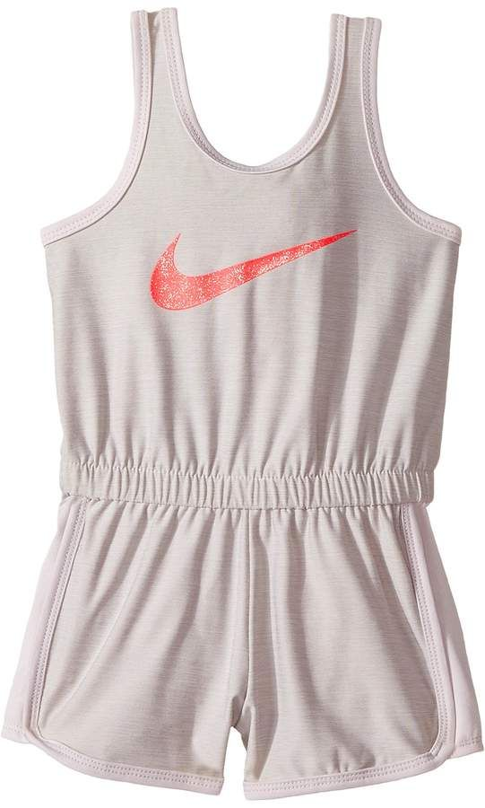 5759aa8d0d4 Nike Kids Dri-Fit Sport Essentials Romper Girl s Jumpsuit   Rompers One  Piece  toddlergirl