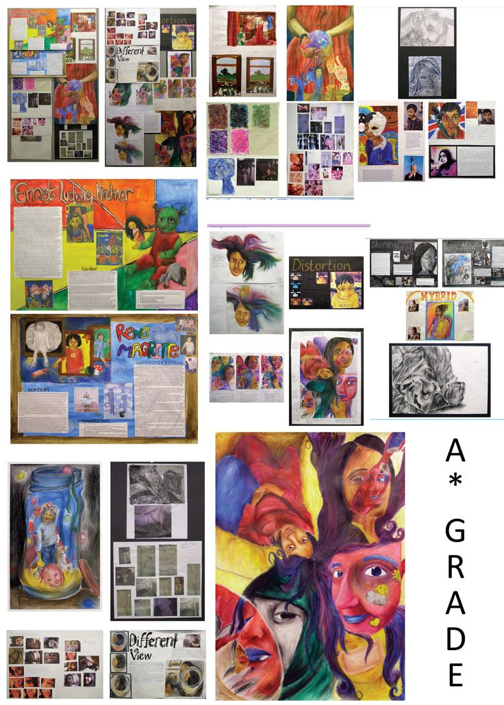 A Grade GCSE Artwork - Student got Full Marks