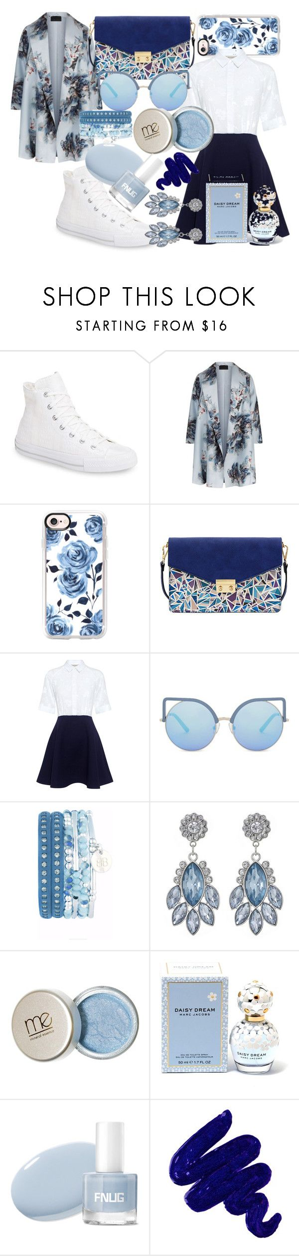 """navy sporty chic"" by crowem ❤ liked on Polyvore featuring Converse, Marina Rinaldi, Casetify, Mellow World, Paul & Joe Sister, Matthew Williamson, Marc Jacobs, Obsessive Compulsive Cosmetics and plus size clothing"