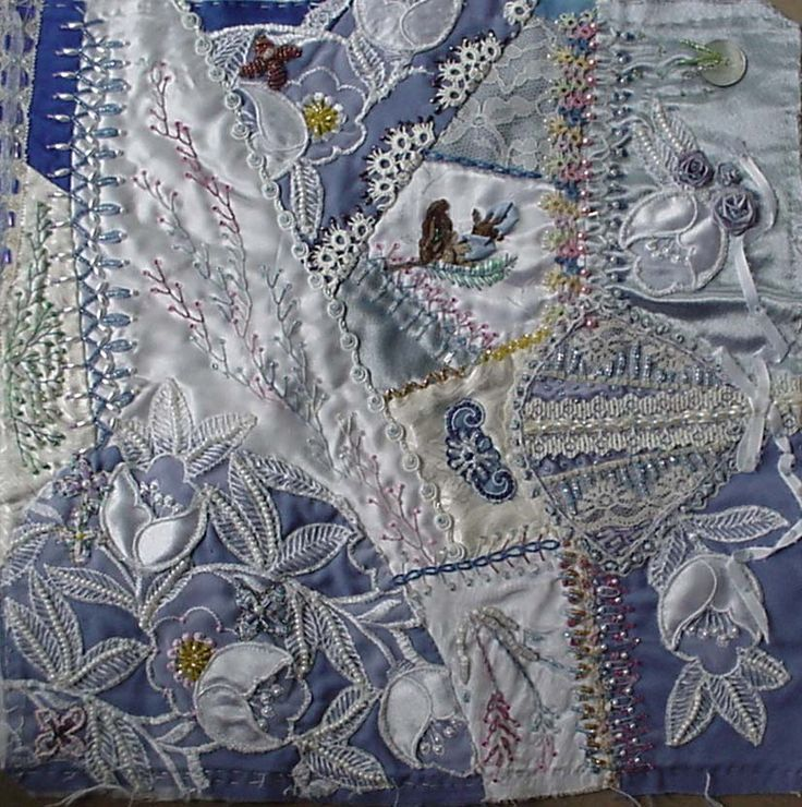 27 best Crazy Quilting ~By Susan Shufelt, The Beeded Needle images ... : making a crazy quilt - Adamdwight.com