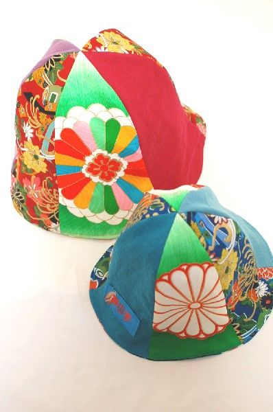 和柄・6枚はぎチューリップハット帽子☆オーダー作製・一点物ハンドメイド☆ベビー,キッズ,大人 - 手作り子供服の通販店 「神の手」