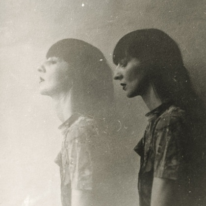 The Look: by Ellen Rogers black and white print; some has had a longer exposure to light, looking faded and narrative