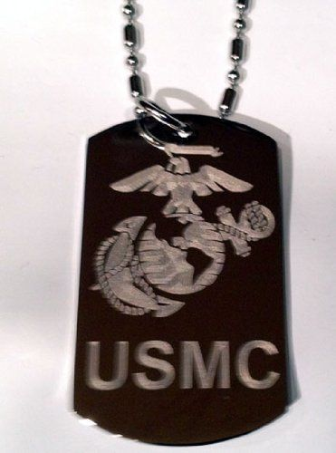 Military Armed Force NEW Marine USMC United States of America Marine Core Symbol  Military Dog Tag Luggage Tag Key Chain Metal Necklace * Continue to the product at the image link.