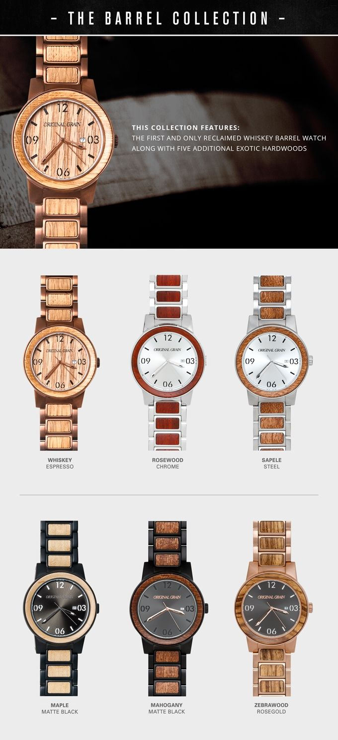 THE BARREL: Handcrafted Watch made w/ Whiskey Barrel Wood by Original Grain — Kickstarter