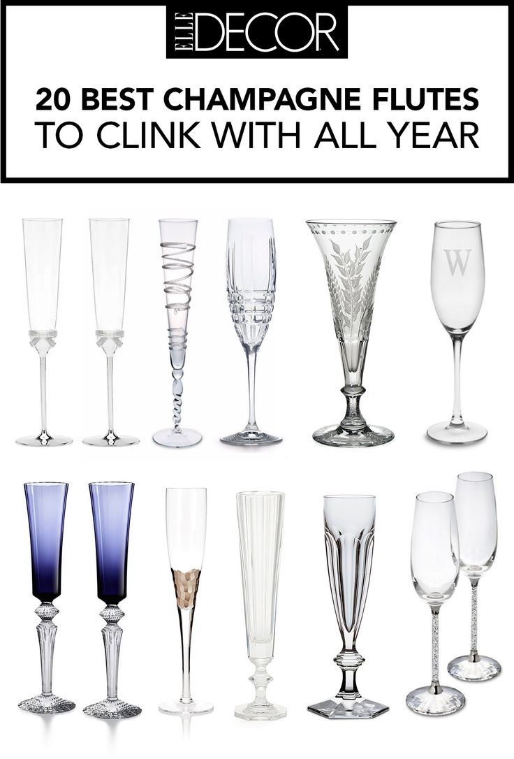 Toast to incredible style with these glistening, sophisticated champagne flutes.