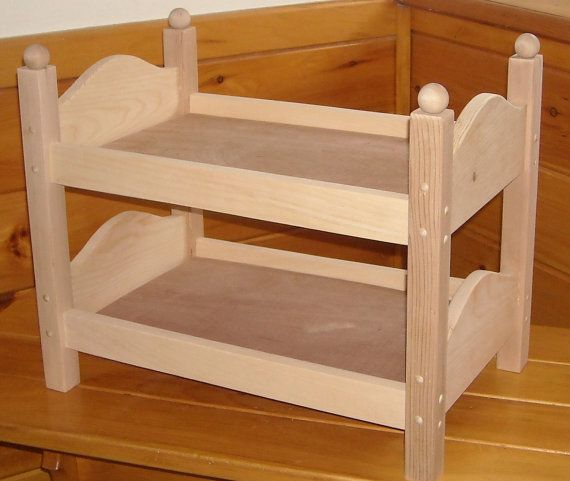 Handmade Bunk Bed For 18 Inch Doll By Admwoodcrafts On