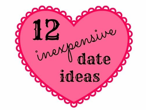 12 Inexpensive Date Ideas. Perfect idea to also add to an engagement or Housewarming gift to keep the couple spending time together! :)