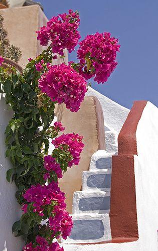 steps in Santorini, Greece