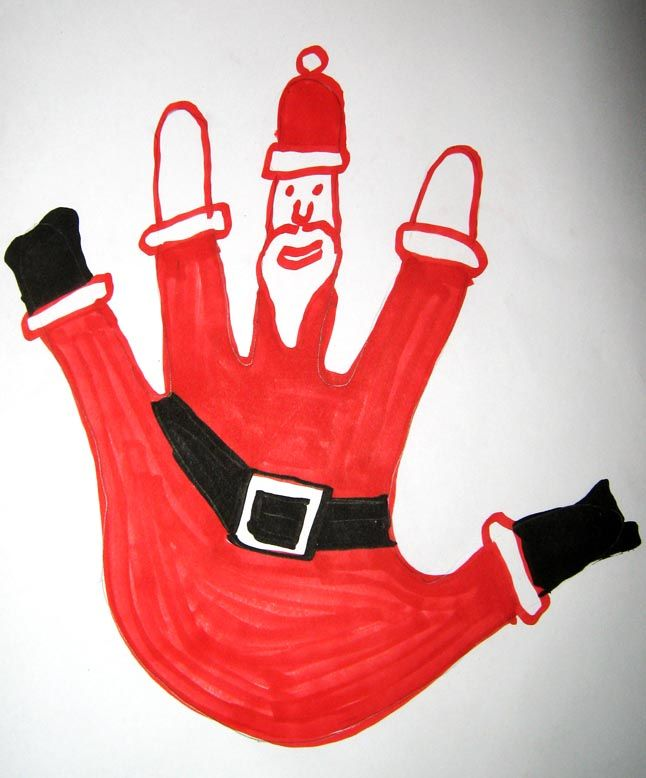 kids santa drawing