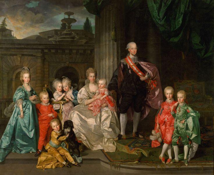 Johann Zoffany La familia del futuro emperador Leopoldo II, en 1776.