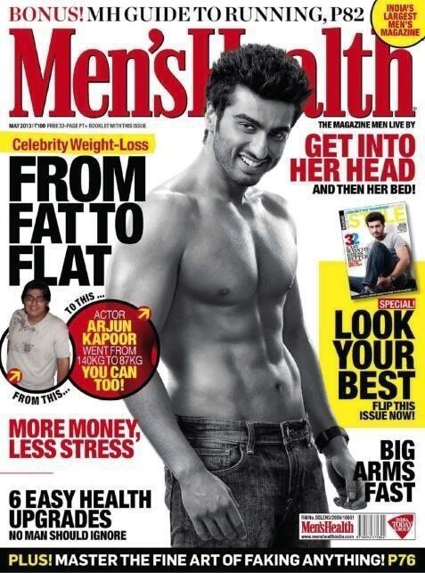 Arjun Kapoor on Men's Health Magazine, May 2013 Issue