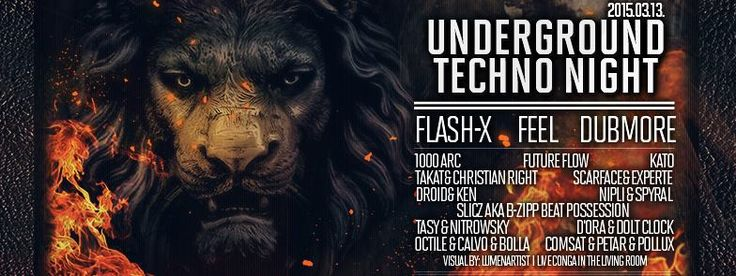 Underground Techno night in R33 Budapest