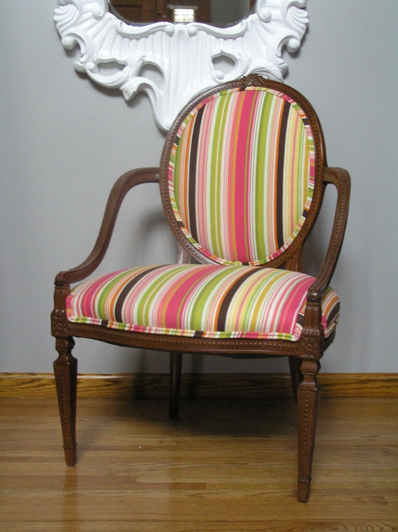 colored striped and wood