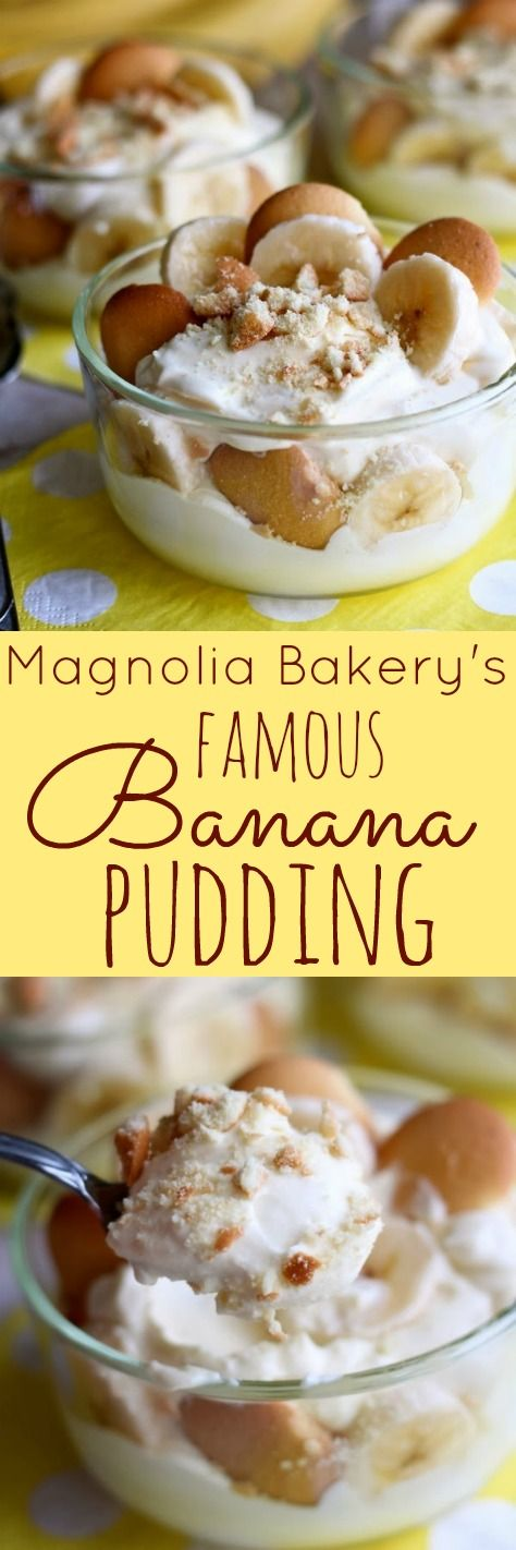 Magnolia Bakery's Famous Banana Pudding - This is the real deal and tastes amazing.