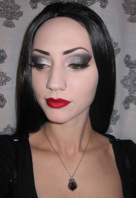 Glitter is my crack...: Morticia  Gomez Addams Halloween Costume/Makeup + Party Pictures