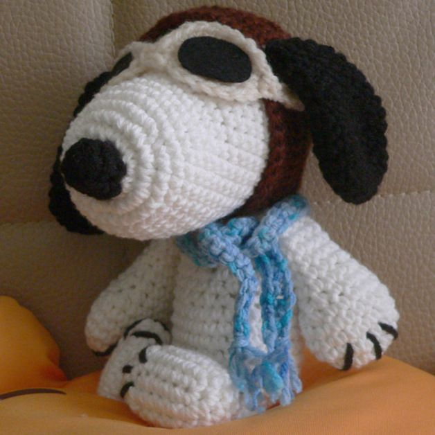Other Amigurumi Pilot Snoopy Dog Crafts Crochet Patte ...