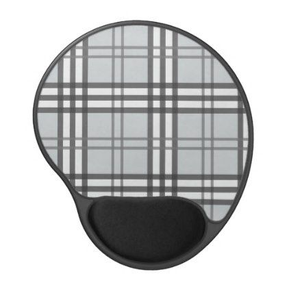 Grayscale Tartan Pattern Gel Mouse Pad - classic gifts gift ideas diy custom unique