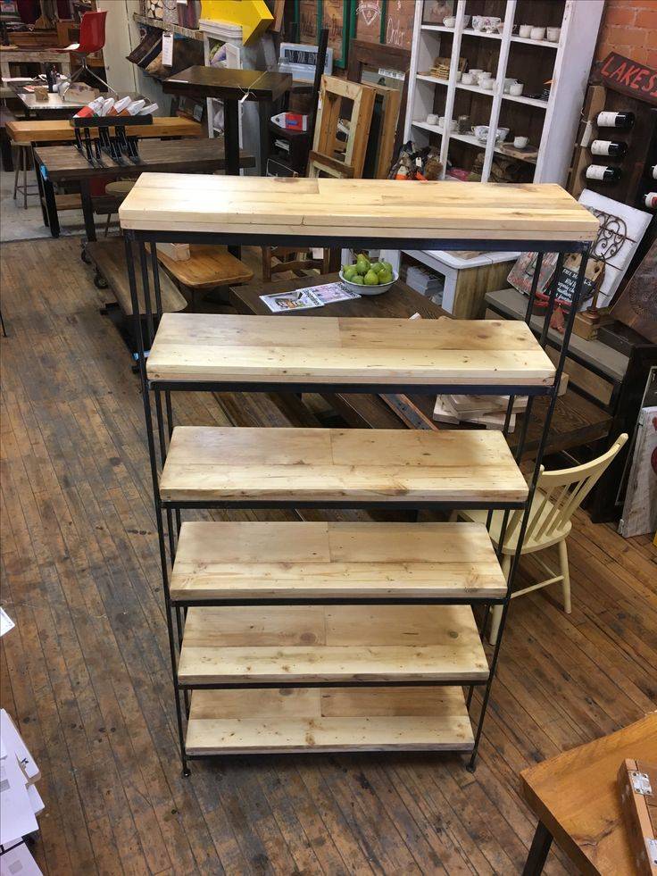 Our No.#3 shelf with a natural finish on the shelves. Built to order, built for life