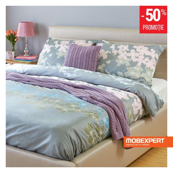 Asternutul de pat pentru 2 persoane Elite are grija ca somnul vostru sa fie confortabil datorita materialelor de buna calitate din care este realizat si finisajelor fara cusur. #asternut #pat #dormitor #mobexpert