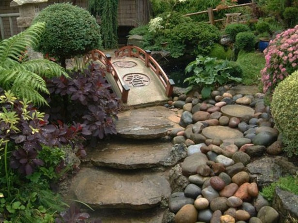 Overwhelming Garden Pathway Ideas like the large dry rock creekbed