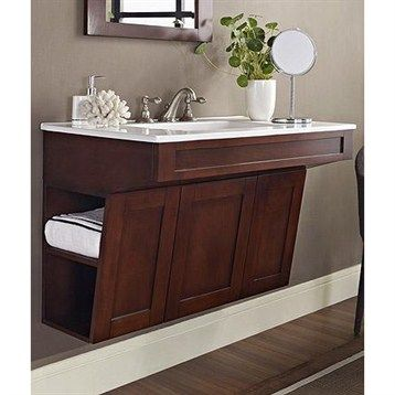 "Fairmont Designs Shaker 36"" Wall Mount ADA Vanity - Dark Cherry"