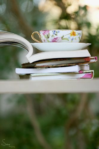 I think I wanna start a book club...and get together and have tea & chat ♥ . I just wish all the people I want to do this with were in the same place!