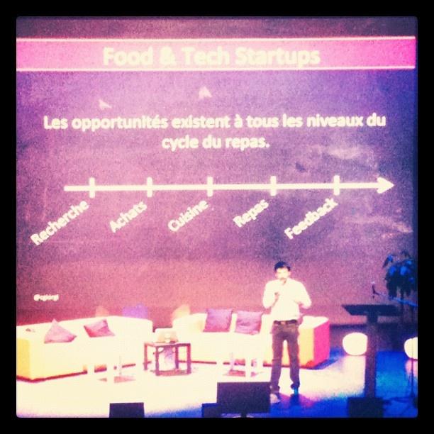 "Talk ""Food & Tech, the next big thing ?"" par Cédric Giogi au #web2day"