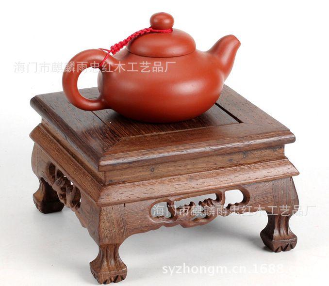 [Lluvia] Zhong artesanías de madera de caoba wengué cuadrado antiguo de pie tigre Taiwán(China (Mainland))