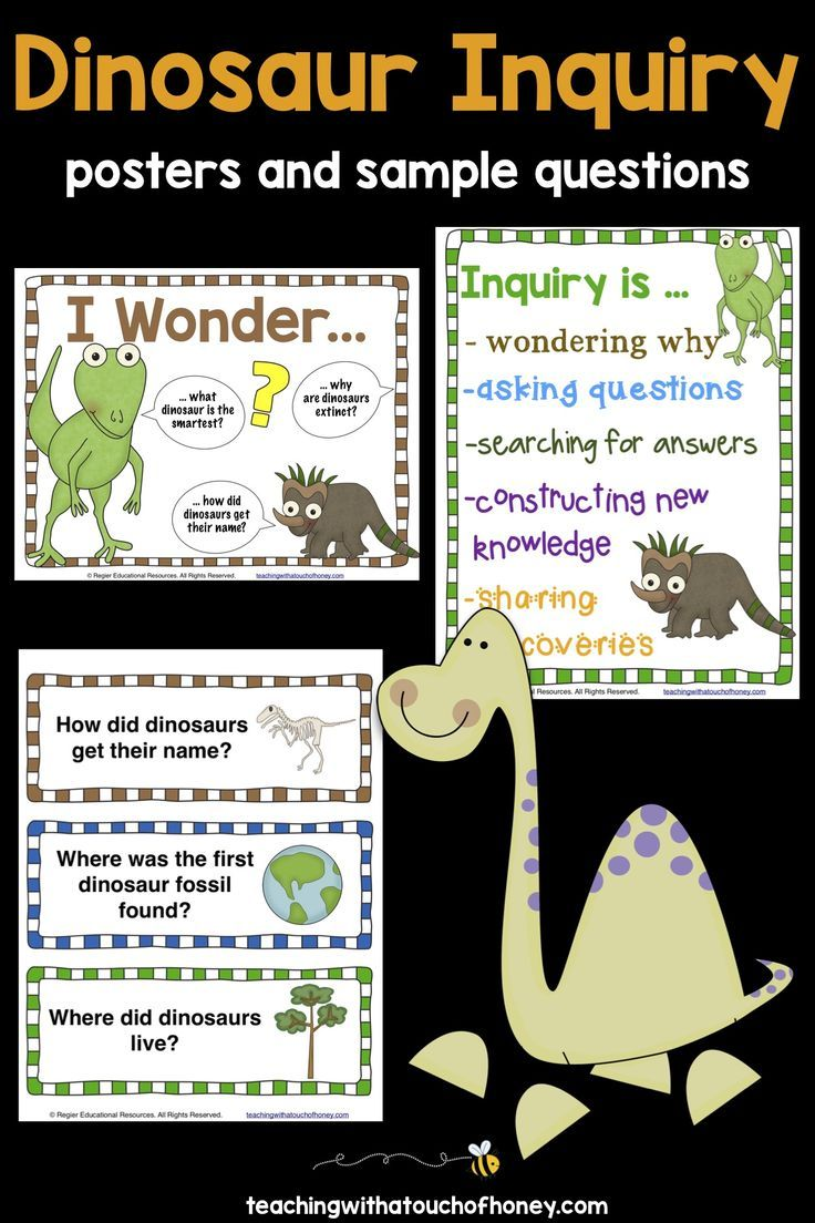 Dinosaur inquiry is a fun idea to get your students learning the inquiry  process! Use …   Inquiry based learning projects [ 1104 x 736 Pixel ]