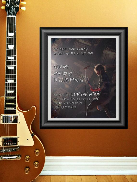 Congregation by Foo Fighters printable wall by PrintableSongParts